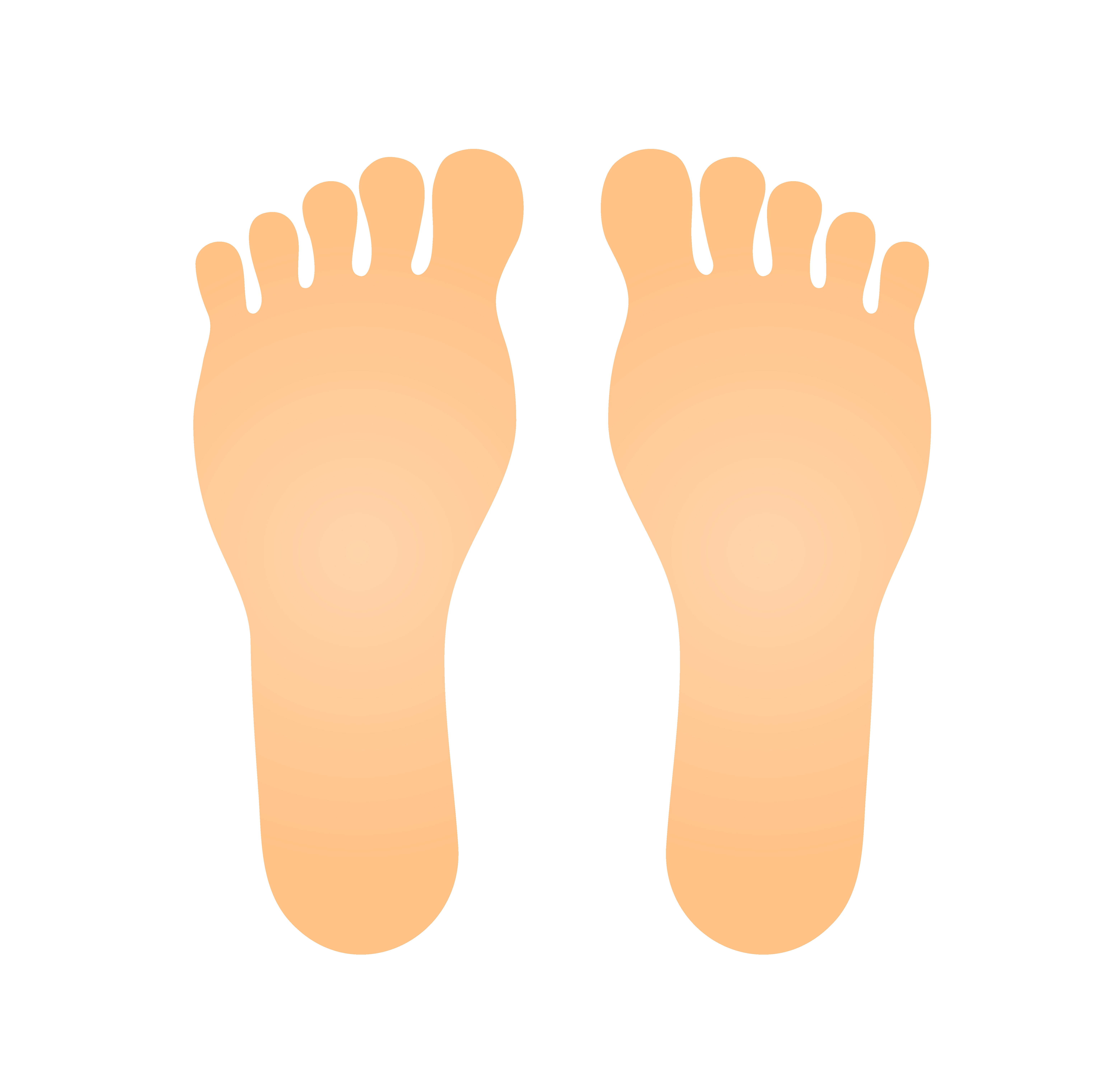 足の形、サイズ、足圧